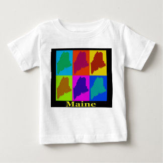Colorful Maine Pop Art Map T-shirt