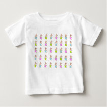 Colorful Maisy Bunnies Pattern Baby T-Shirt