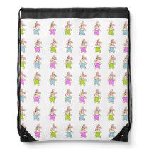 Colorful Maisy Bunnies Pattern Drawstring Bag