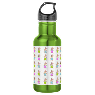 Colorful Maisy Bunnies Pattern Water Bottle