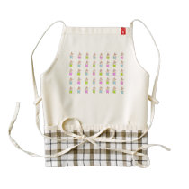 Colorful Maisy Bunnies Pattern Zazzle HEART Apron