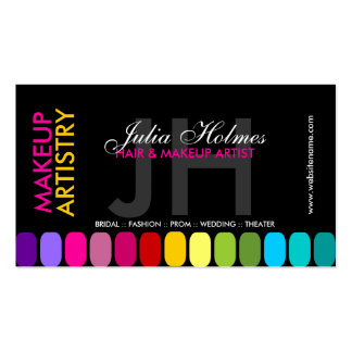 Colorful Makeup Artist Business Cards
