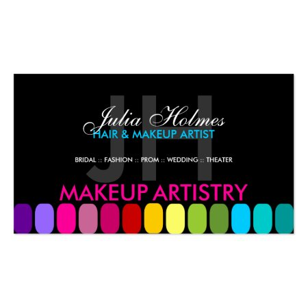 Colourful Makeup Artist Profile Cards