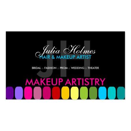Colourful Makeup Artist Profile Cards