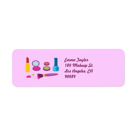 Colorful Makeup Label