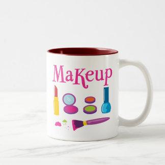 Colorful Makeup Two-Tone Coffee Mug