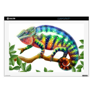 """Colorful Male Panther Chameleon Skin Decals For 17"""" Laptops"""