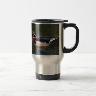 Colorful Male Wood Duck - Aix sponsa Travel Mug