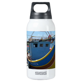Colorful Maltese Fishing Boat Insulated Water Bottle
