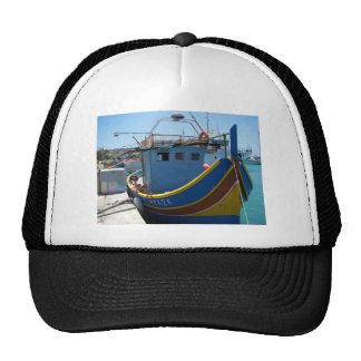 Colorful Maltese Fishing Boat Trucker Hat