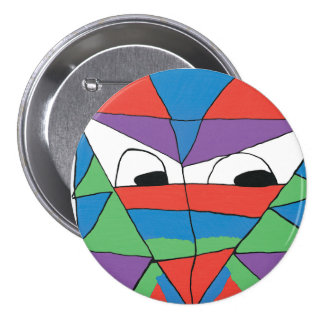Colorful Man Abstract Button