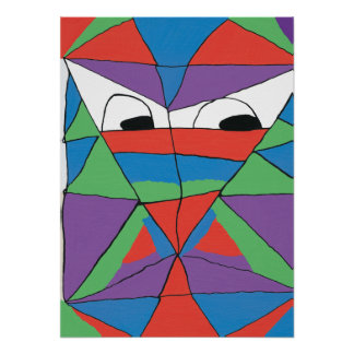 Colorful Man Abstract Poster