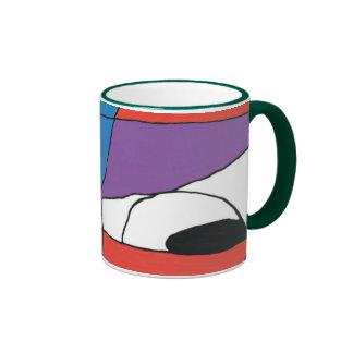 Colorful Man Abstract Ringer Coffee Mug