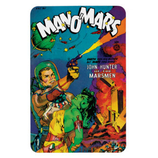 Colorful Man O' Mars Vintage 50s Comic Book Cover Magnet