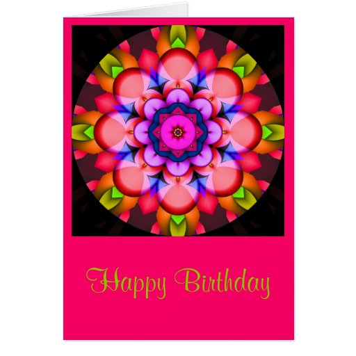 Colorful Mandala Birthday card