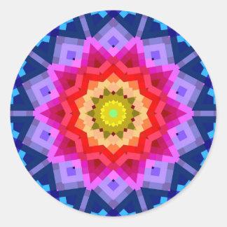 Colorful Mandala Classic Round Sticker