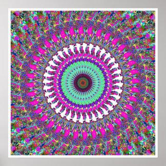 Colorful Mandala of Symmetry Poster