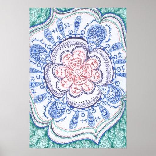 Colorful Mandala Poster.