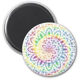 Colorful Mandala Swirl Design Magnet