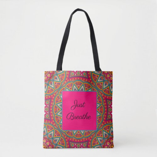 Colorful Mandala Tote _ Creat Your Own Quote