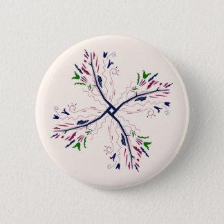 Colorful mandala vanilla button