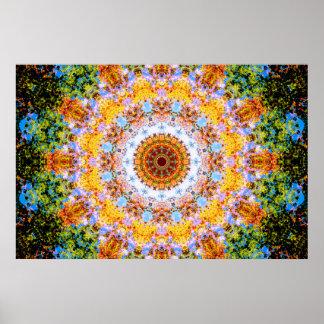 Colorful Mandala Vibes Poster