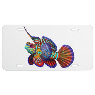 Colorful Mandarin Dragonet Fish License Plate