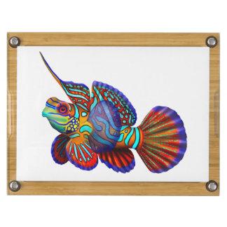 Colorful Mandarin Dragonet Reef Fish Cheese Board Rectangular Cheeseboard