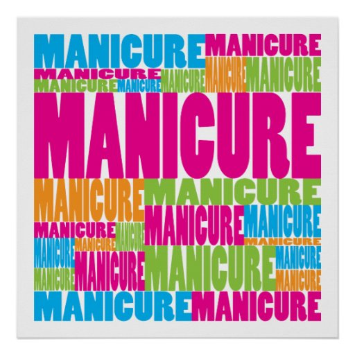 Colorful Manicure Posters