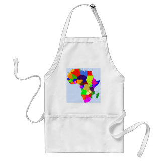 Colorful map of Africa Adult Apron