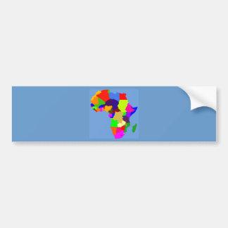 Colorful map of Africa Bumper Sticker