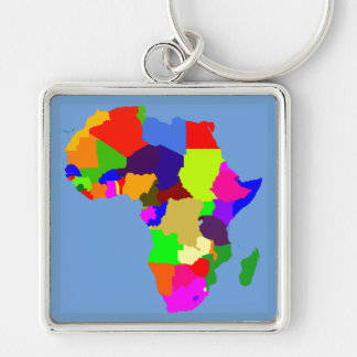 Colorful map of Africa Keychain
