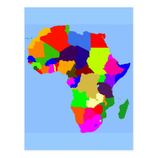 Colorful map of Africa Postcard