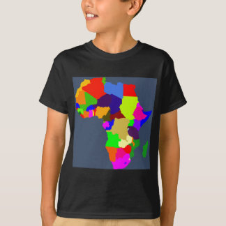Colorful map of Africa T-Shirt