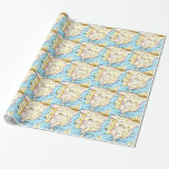 Colorful Map of Spain Design Gift Wrapping Paper
