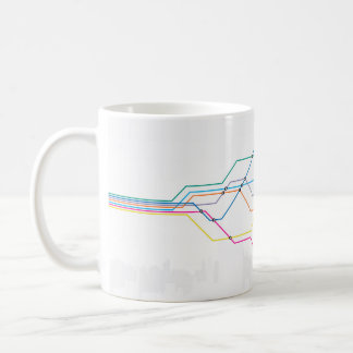 Colorful map of subway lines coffee mug