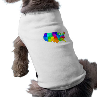 Colorful map of the United States of America Pet T Shirt