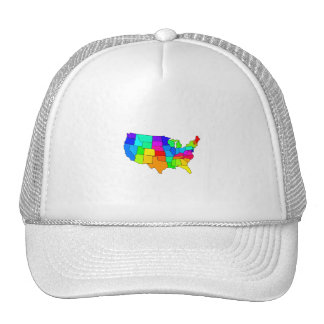 Colorful map of the United States of America Trucker Hat