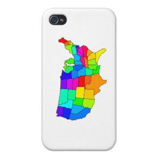 Colorful map of the United States of America iPhone 4 Cover