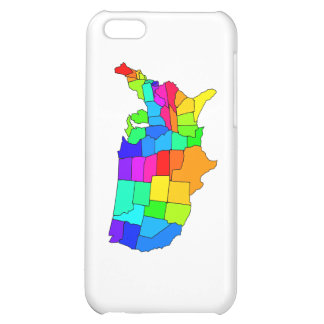Colorful map of the United States of America Case For iPhone 5C