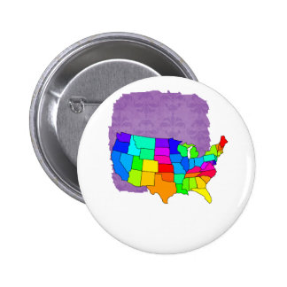 Colorful map of the United States of America Pins
