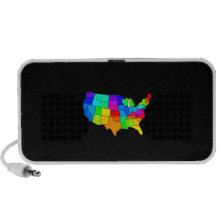 Colorful map of the United States of America Mp3 Speaker
