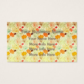 Colorful Maple Leaf Pattern Business Card