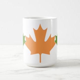 colorful maple leaves - mugs