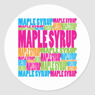 Colorful Maple Syrup Classic Round Sticker