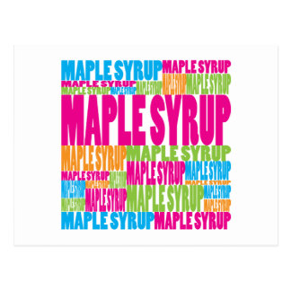 Colorful Maple Syrup Postcard