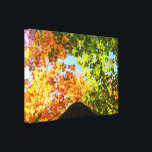 """Colorful Maple Treetops Canvas Print<br><div class=""""desc"""">Colorful Maple trees during a bright and beautiful day of Autumn 2017. The Province of Quebec,  Canada.</div>"""