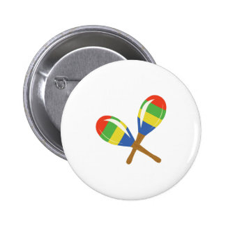 Colorful Maracas 2 Inch Round Button