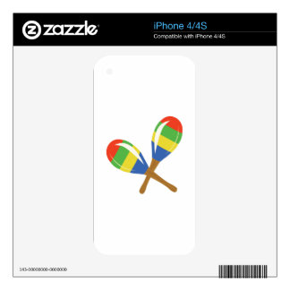 Colorful Maracas Decals For The iPhone 4