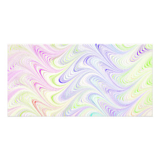 colorful marble pattern customized photo card
